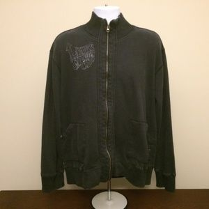 Levi's fleece greaser rockabilly black full zip